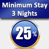 MIN. 3 NIGHTS – 25% DISCOUNT FROM 07/01/2018 TO 31/01/2018 EXCEPT FRIDAY AND SATURDAY