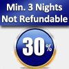 MIN. 3 NIGHTS – 30% OFF (NOT REFUNDABLE ) FROM 07/01/2018 TO 31/01/2018 EXCEPT FRIDAY AND SATURDAY