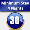 MIN. 4 NIGHTS – 30% DISCOUNT FROM 05/02/2017 TO 28/02/2017 EXCEPT FRIDAY AND SATURDAY