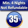 MIN. 4 NIGHTS – 35% OFF (NOT REFUNDABLE ) FROM 05/02/2017 TO 28/02/2017 EXCEPT FRIDAY AND SATURDAY